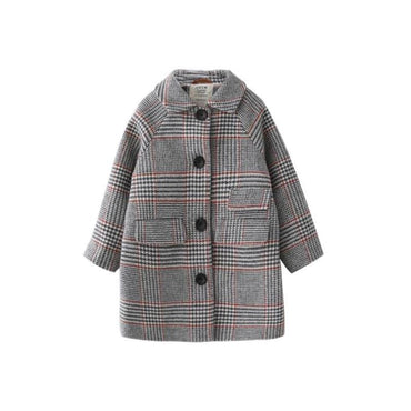 Autumn Plaid Outerwear Jacket for Girls