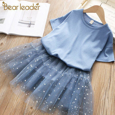 Cute Princess Girl Solid Color Undershirt with Star Design -