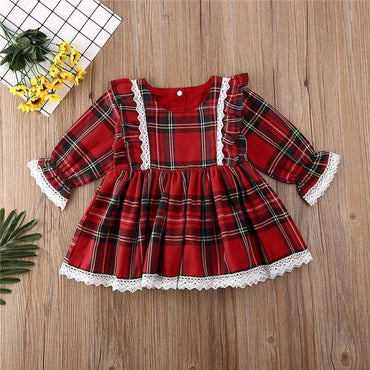 1-6T Christmas kids Baby Girl Princess Dress Elegant Formal