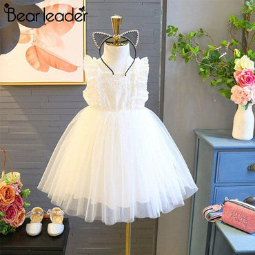 Floral Dresses Lace Openwork Kid for 3-7Y - AX1129 / 5T -
