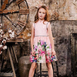 Flower Girls Chinese Style Princess Party Dresses For Girl Kids 4-14 Yearsmedium