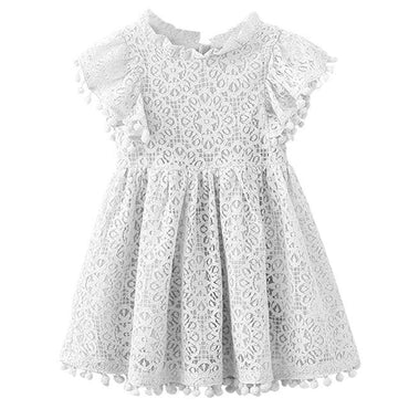 White Lace Summer Dress with Butterfly Sleeves