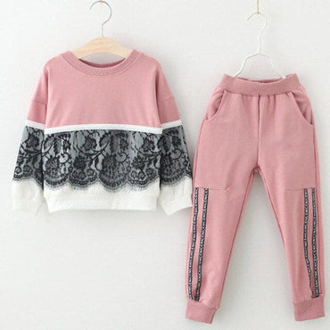 Long Sleeve T-shirt with Pants - pink -az1787 / 7 - Baby
