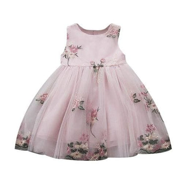 Mesh Party Dress Flowers Tulle - A / 12M - Kids & Babies