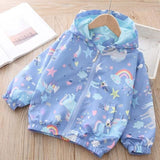 New Autumn Fashion Cartoon Coats Hooded Long Sleeve Outfits For Girl Kidsmedium