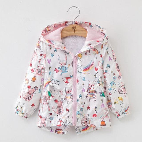 New Autumn Fashion Cartoon Coats Hooded Long Sleeve Outfits