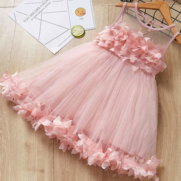 New Fashion Princess Clohtings Sweet Flower Embroidery Mesh
