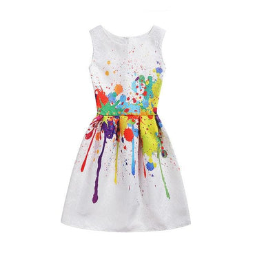 Printed Sleeveless Party Summer Dress | daddysgirlclothing.com | DG Daddy's Girl | Daddy's Girl | Dresses for Prettiest Girls | Premium Children's Wear | Unique Children's Clothes | Trendy children's Clothes | Great Quality Fashion for Girls | Inexpensive Boutique | Adorable Clothes for Little Angels | Prettiest Girl on the Planet | Shop Now