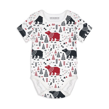 Short Sleeve Baby Bodysuit BEAR WITH ME - Short Sleeve Baby