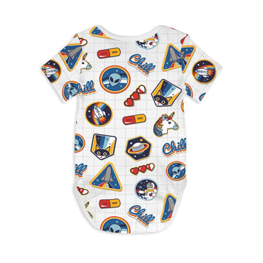 Short Sleeve Baby Bodysuit I NEED SPACE - Short Sleeve Baby