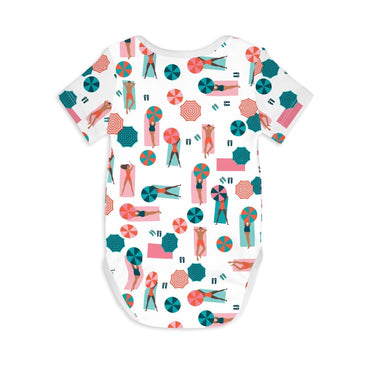 Short Sleeve Baby Bodysuit LIFE IS A BEACH - Short Sleeve