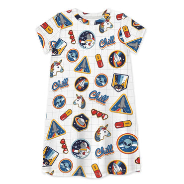 Short Sleeve Dress I NEED SPACE - Dress