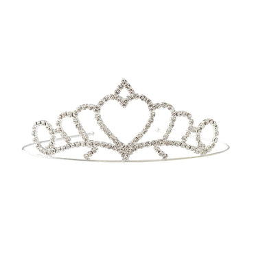Sivler Princess Heart Tiara - Kids & Babies