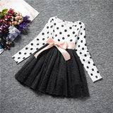 Winter Baby Dress For Girl Long Sleeve Princess Girls Dresses Polka Dot Little Baby Birthday Partymedium