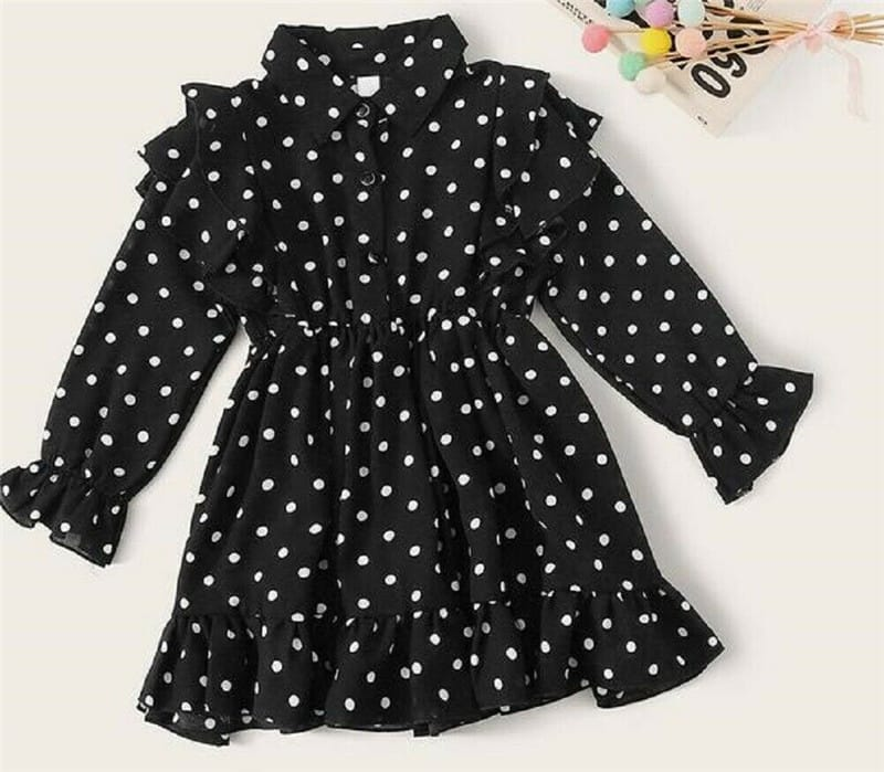 Ruffle Polka Dots Toddler Dress