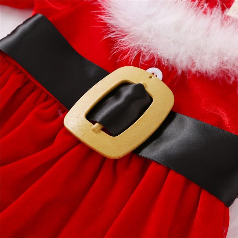 Christmas Baby Girls Dress O-Neck Long-Sleeve