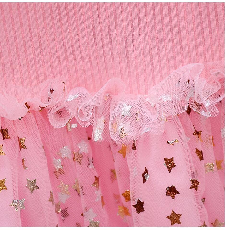 Cute Star Long Sleeve Knitting Dress