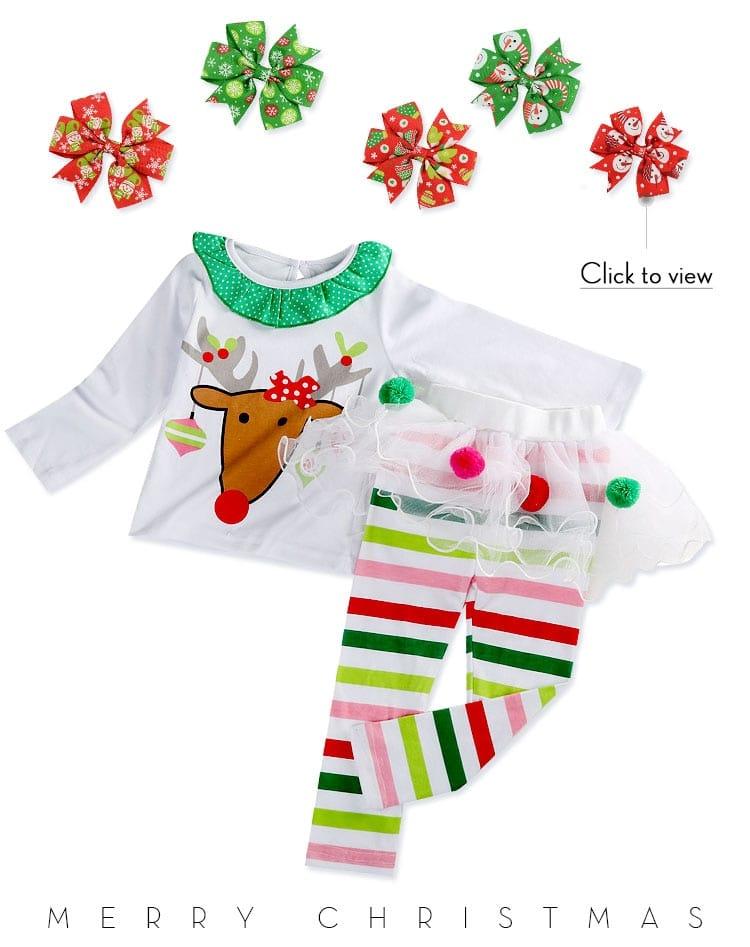 Christmas Tops Tutu Skirts Outfits
