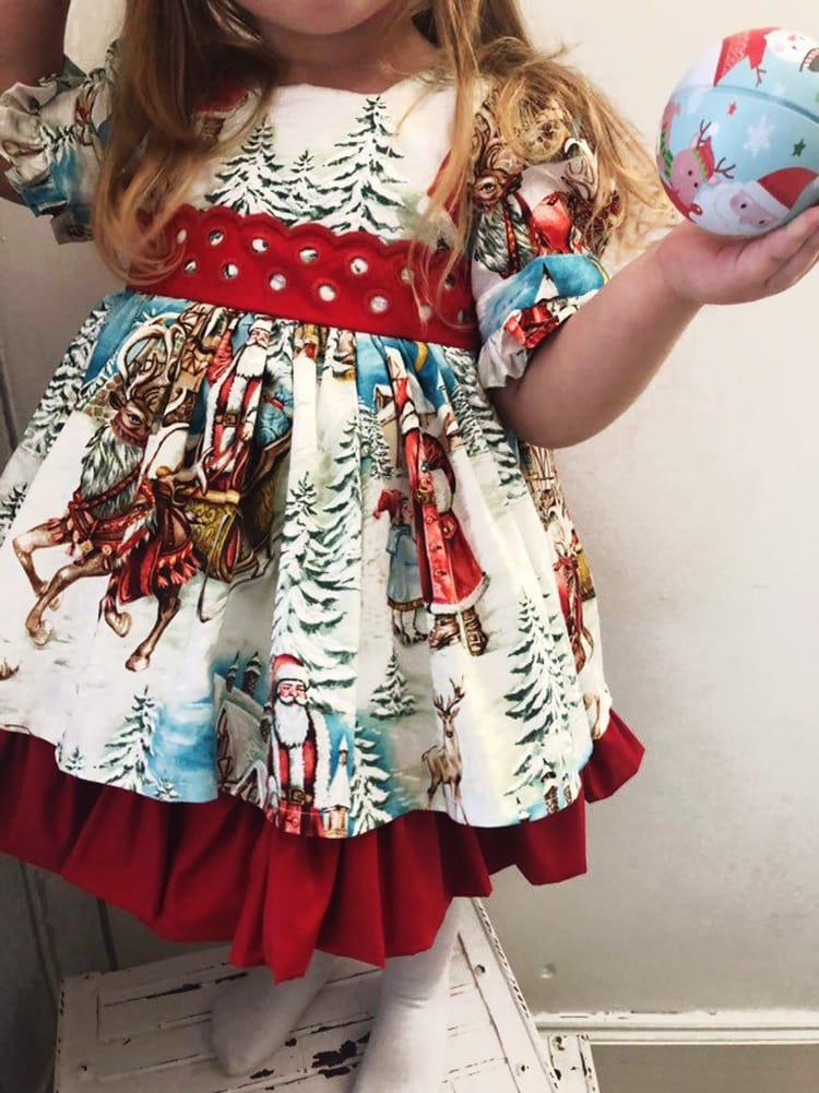Christmas Bowknot Princess Dress